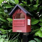 Vogelhuisje rood - roodborstjes,...