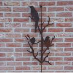 Vogels op tak met stang - decoroest