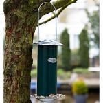 Vogelvoedersilo voor zaad in metaal - groen