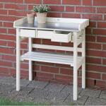 Werktafel met lades - oppottafel (wit)