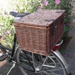 Wilgentenen fietsmand - bakkersmand 45 x 30 x 25 cm