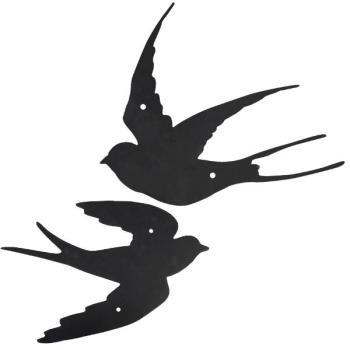 Muurdecoratie Buiten Metaal.Set Van Twee Gietijzeren Zwaluwen Als Muurdecoratie Kopen