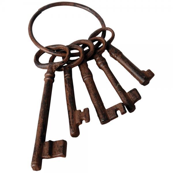 Sleutelbos met vijf sleutels