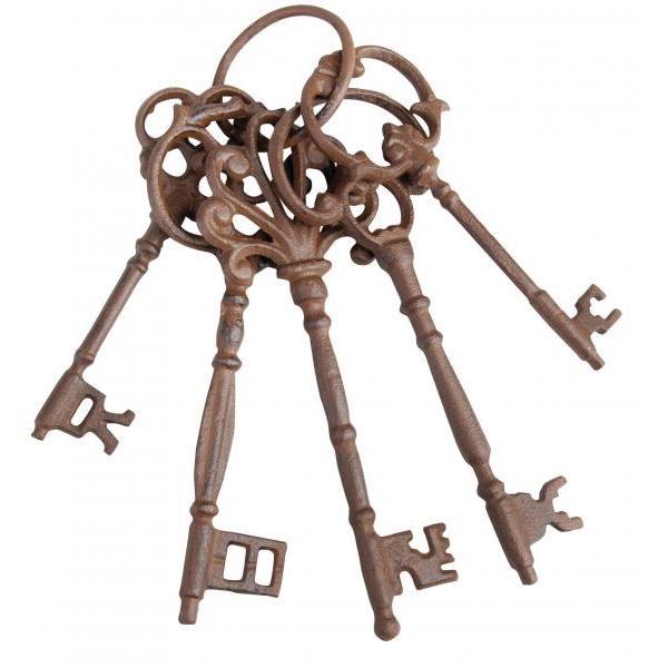Sleutelbos met vijf grote sleutels