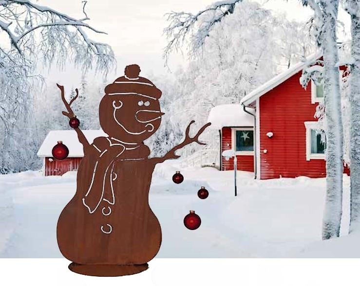Sneeuwman met muts decoroest