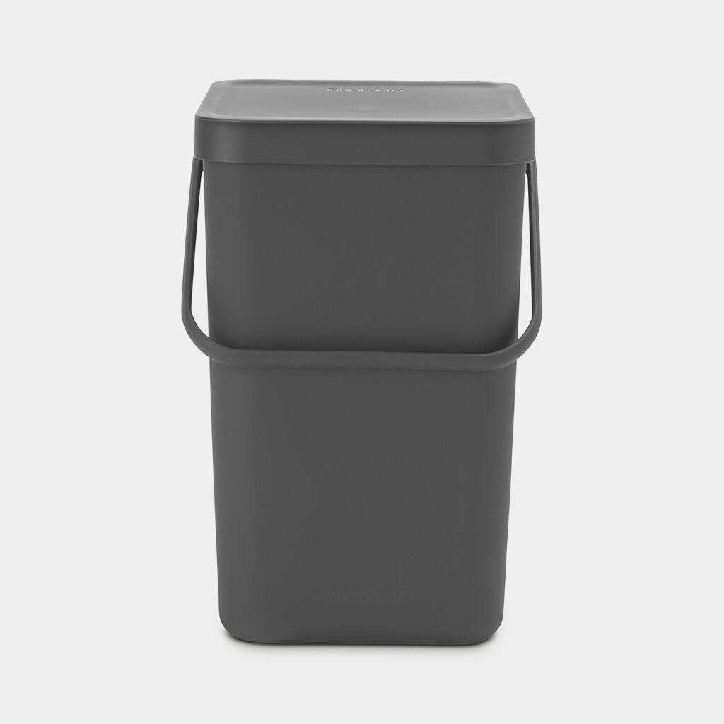 Sort Go afvalemmer BRABANTIA grijs 25 liter