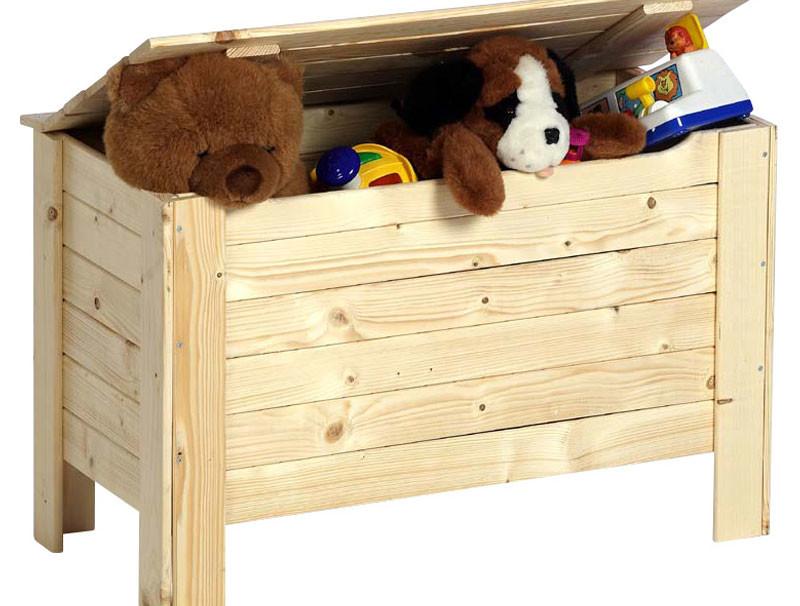 Speelgoedkoffer in hout
