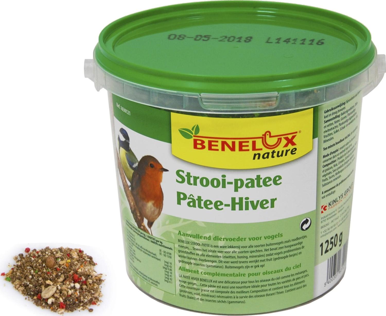 Strooipat voor tuinvogels in emmer 1250 gram