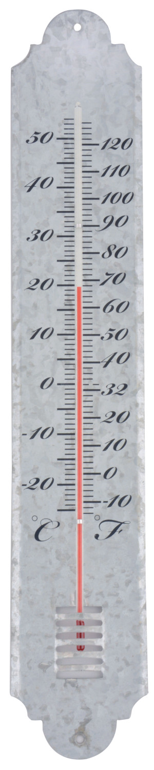 Thermometer oud zink 50 cm