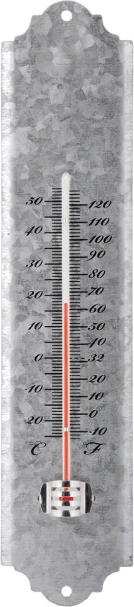Thermometer oud zink 30 cm
