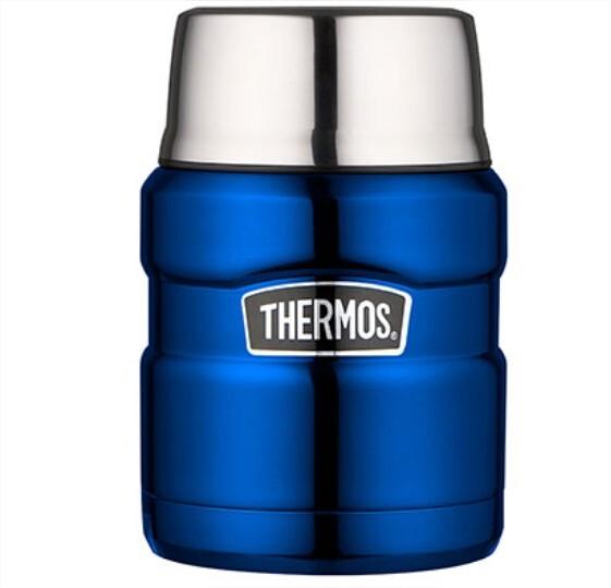 Thermos KING voedseldrager metaalblauw 470 ml