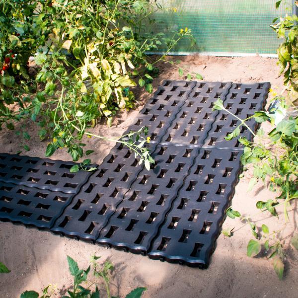 Tuinpadplatengrondplaten zwart