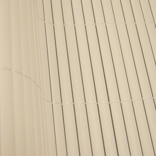 Tuinscherm ecru PVC 3 x 15 mdubbelzijdig