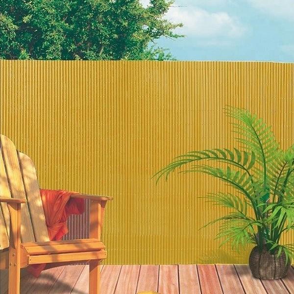 Tuinscherm zandkleurig 3 x 15 m dubbelzijdig
