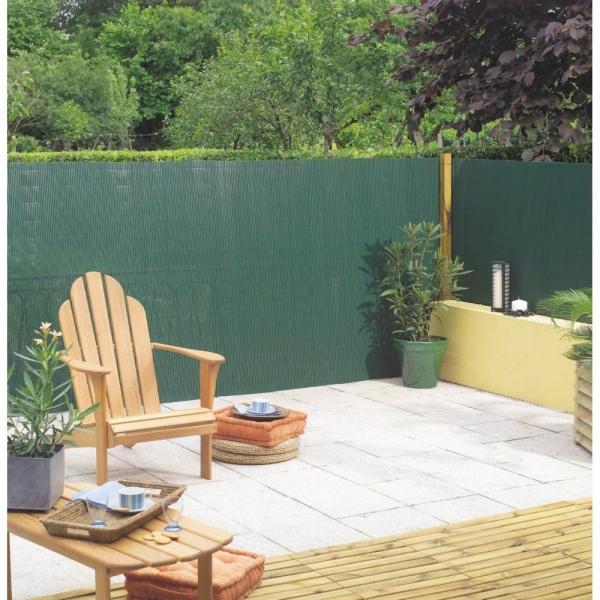 Tuinscherm groen 15 x 3 m dubbelzijdig