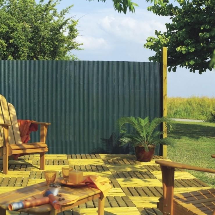 Tuinscherm groen 3 x 1 m dubbelzijdig