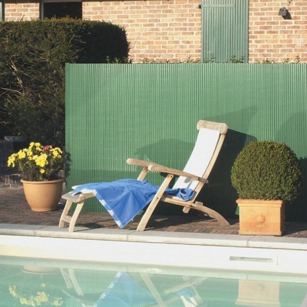 Tuinscherm groen PVC 3 x 1 m dubbelzijdig