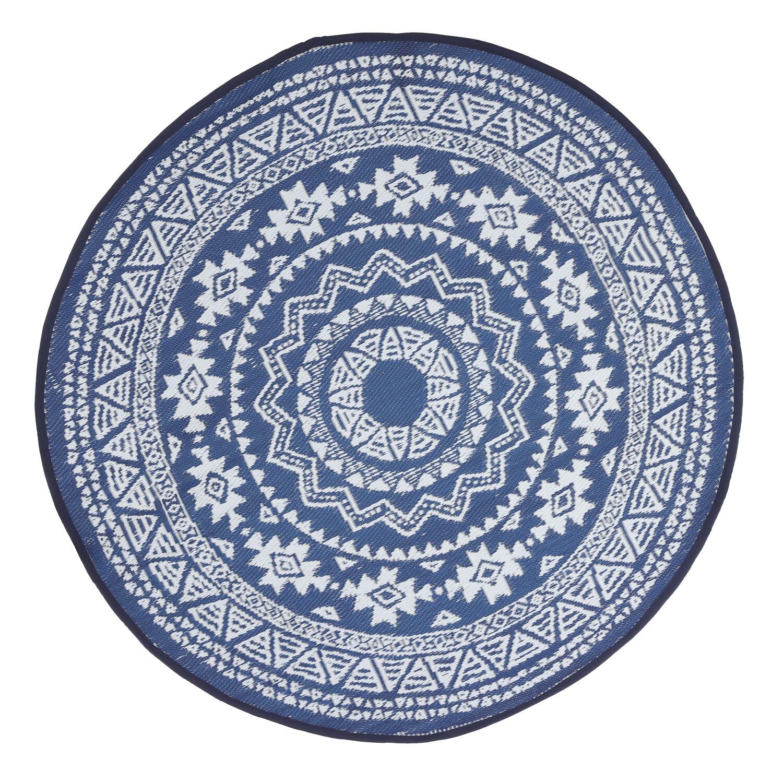 Tuintapijt blauwwit 150 cm
