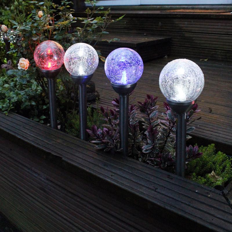 Tuinverlichting ijsbal solar36 cm hoog