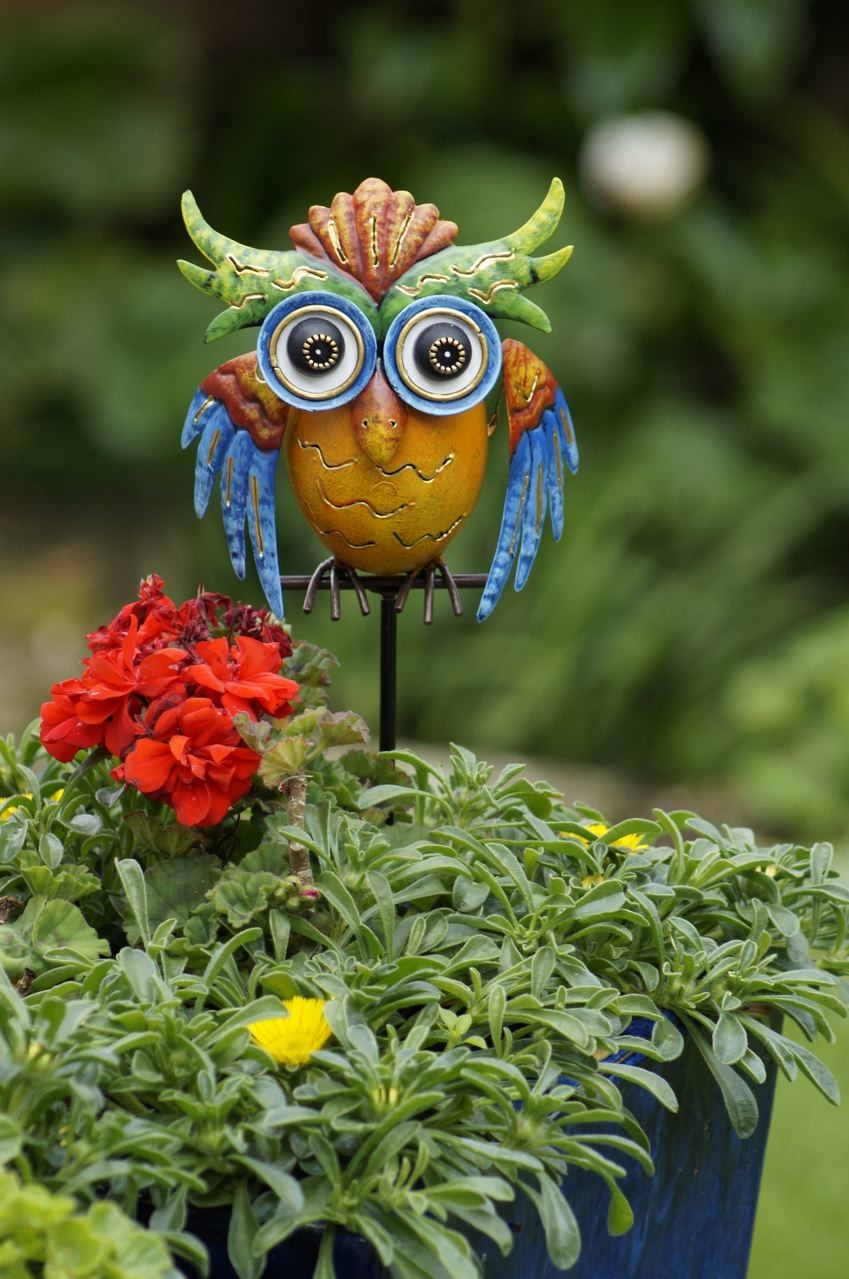 Uil Ollie tuinprikker90 cm