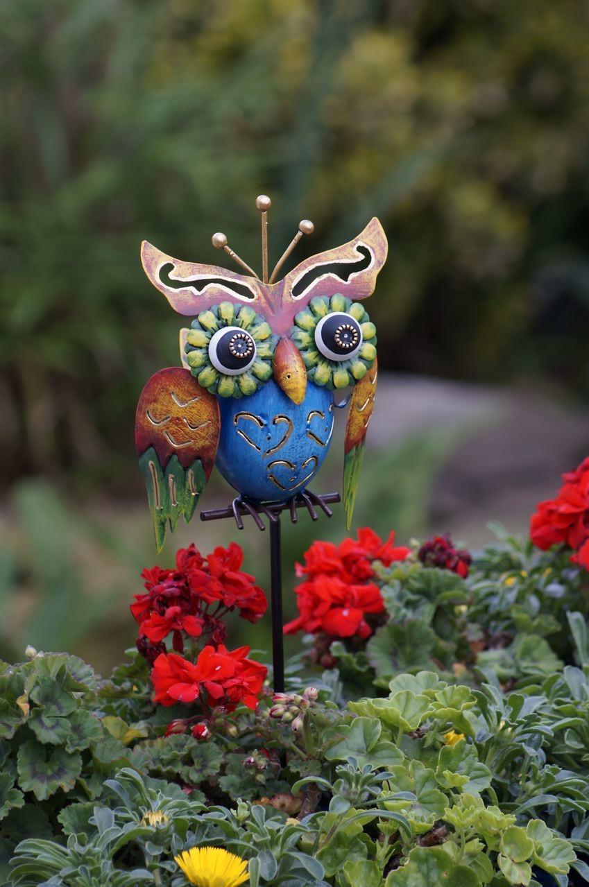 Uil Screetchy tuinprikker90 cm