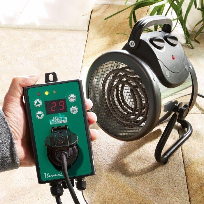 SerreKasverwarming en ventilator in 1 met digitale thermostaat