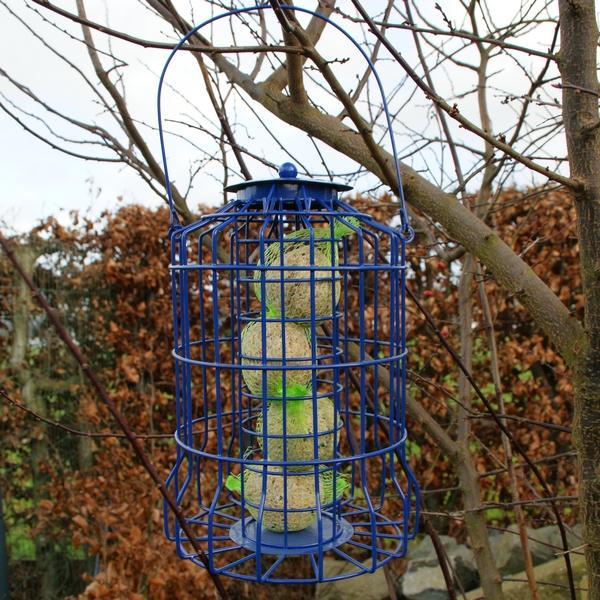 Vetbolvoedersilo kleine vogels BLAUW