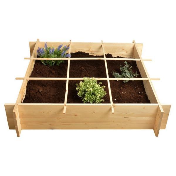Vierkantemeter tuin in hout 150 liter