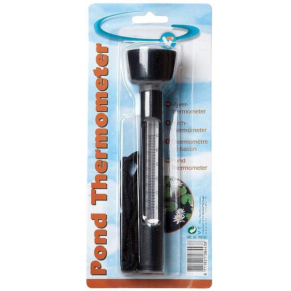 Drijvende thermometer met touw