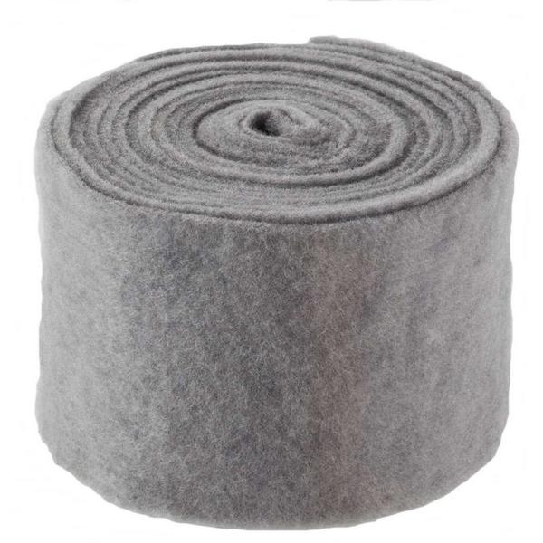Vilt grijs 5 m x 15 cm
