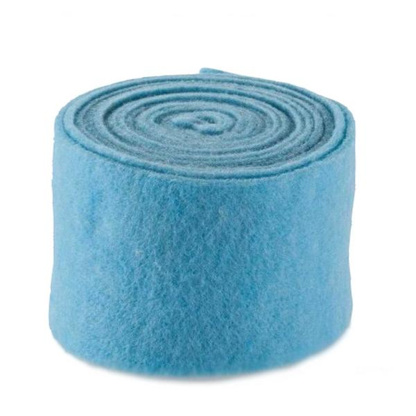 Vilt hemelsblauw 5 m x 15 cm