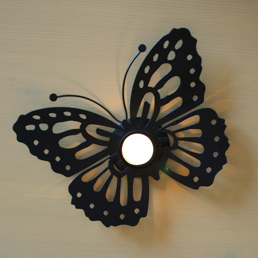 Vlinder als theelichthouder