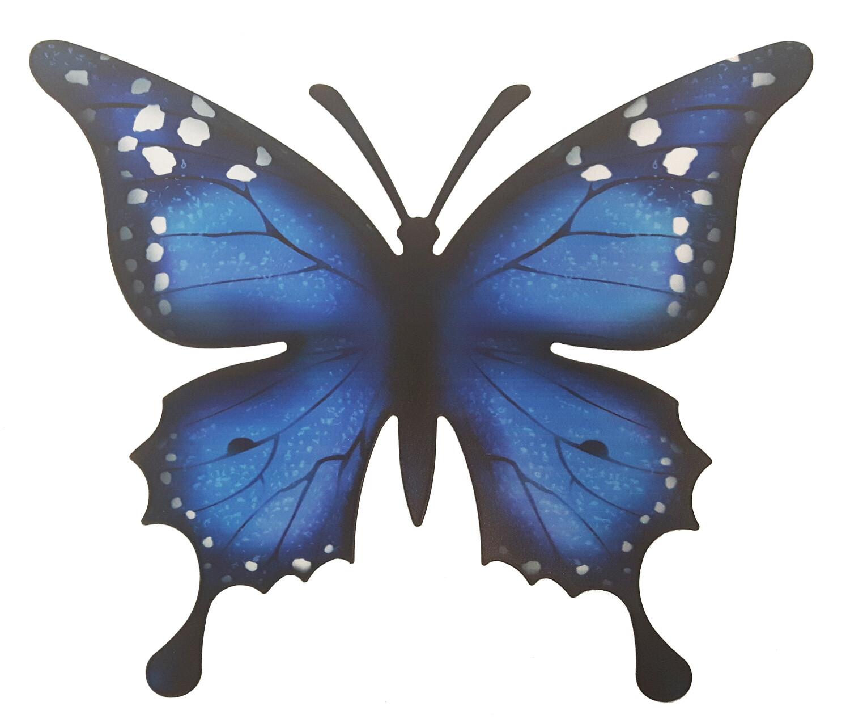 Vlinder muurdecoratie metaal 30 x 25 cm