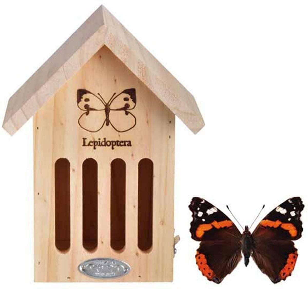 Vlinderhotel naturel met brandmerk