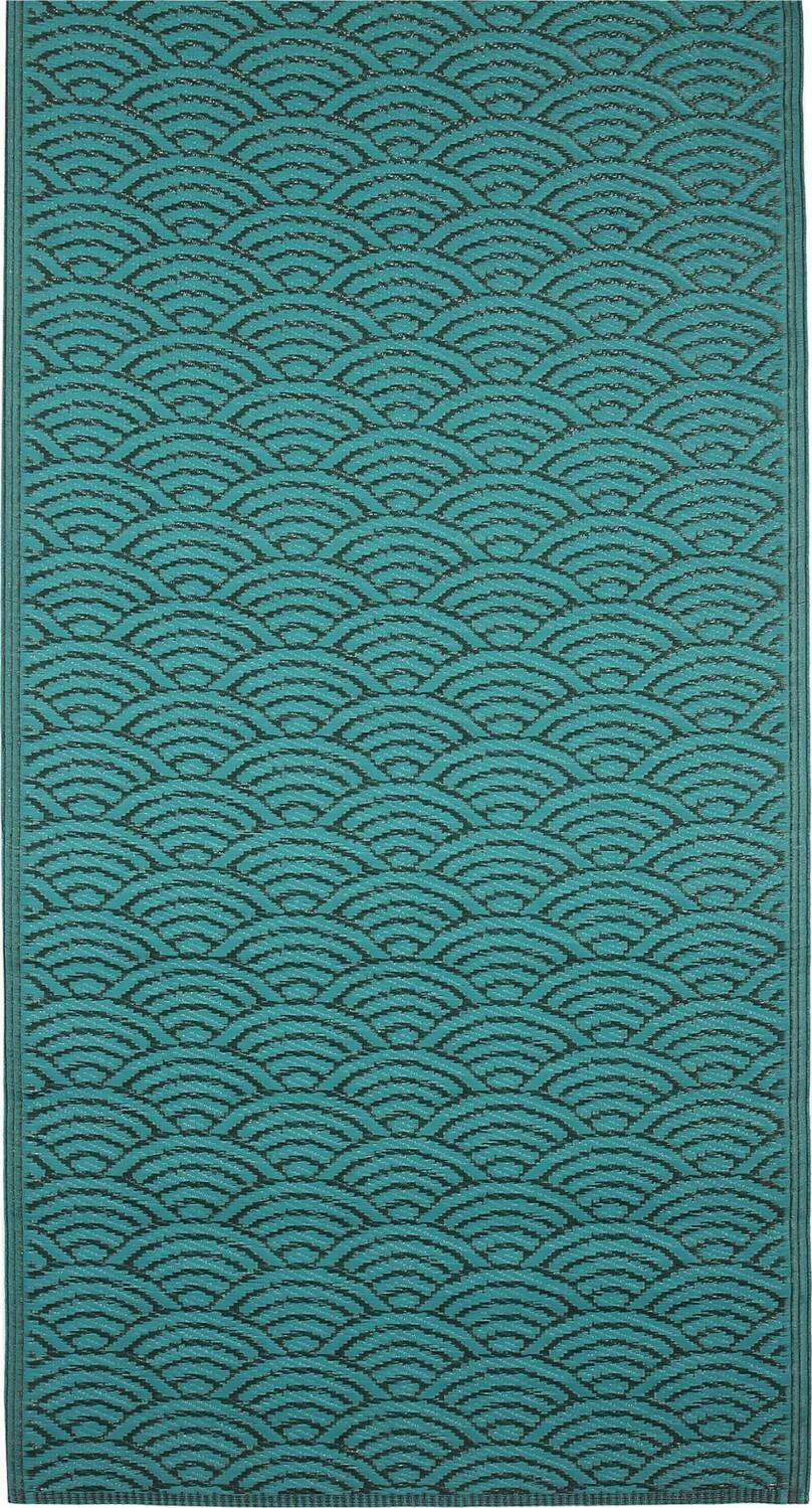 Vloerkleed outdoor groen 180 x 90 cm