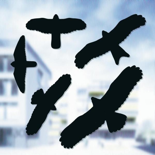Vogelafweer stickers zwart