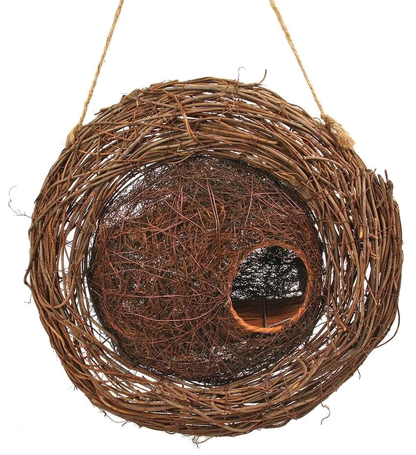 Vogelhuis in krans Simon King
