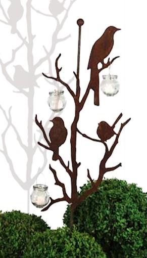 Vogels op tak met stangdecoroest