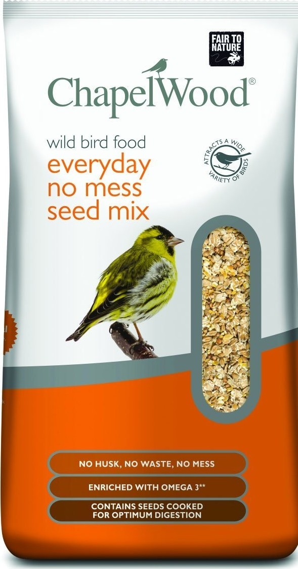 Vogelvoer zonder verspilling en zonder kiemende zaden