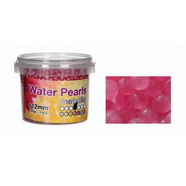 Watergelparels roze glitterdroge vorm