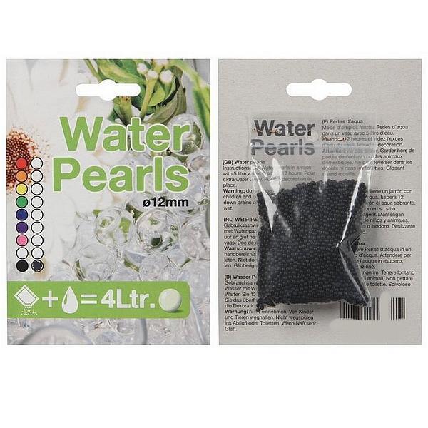Waterparels zwartdroge vorm
