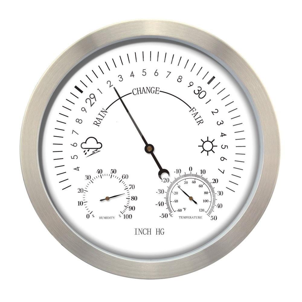Weerstationbarometer RVS