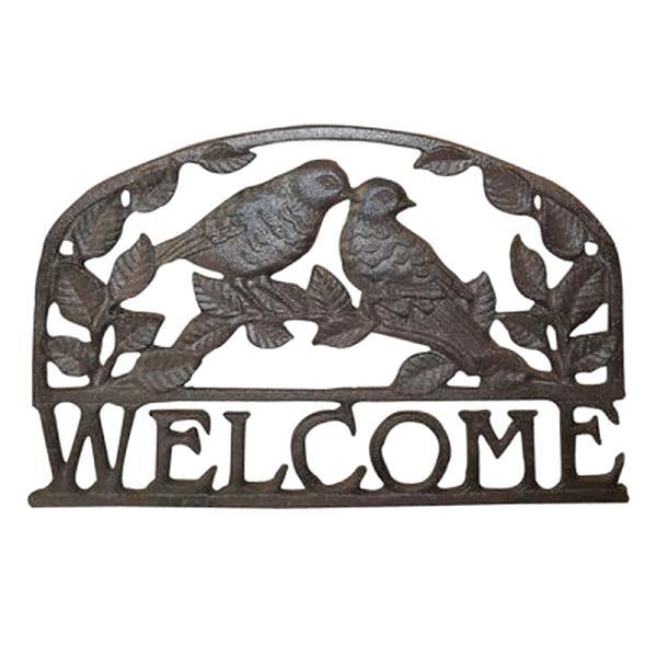 Welcome muurplaat vogels
