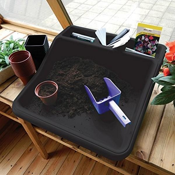 Werkschaal compactkunststof zwart