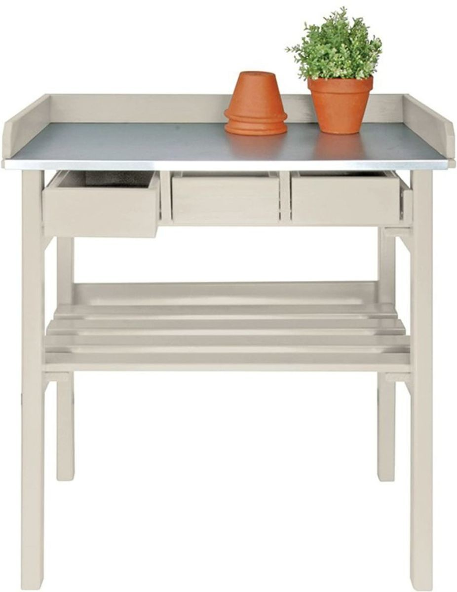 Werktafel met lades oppottafel