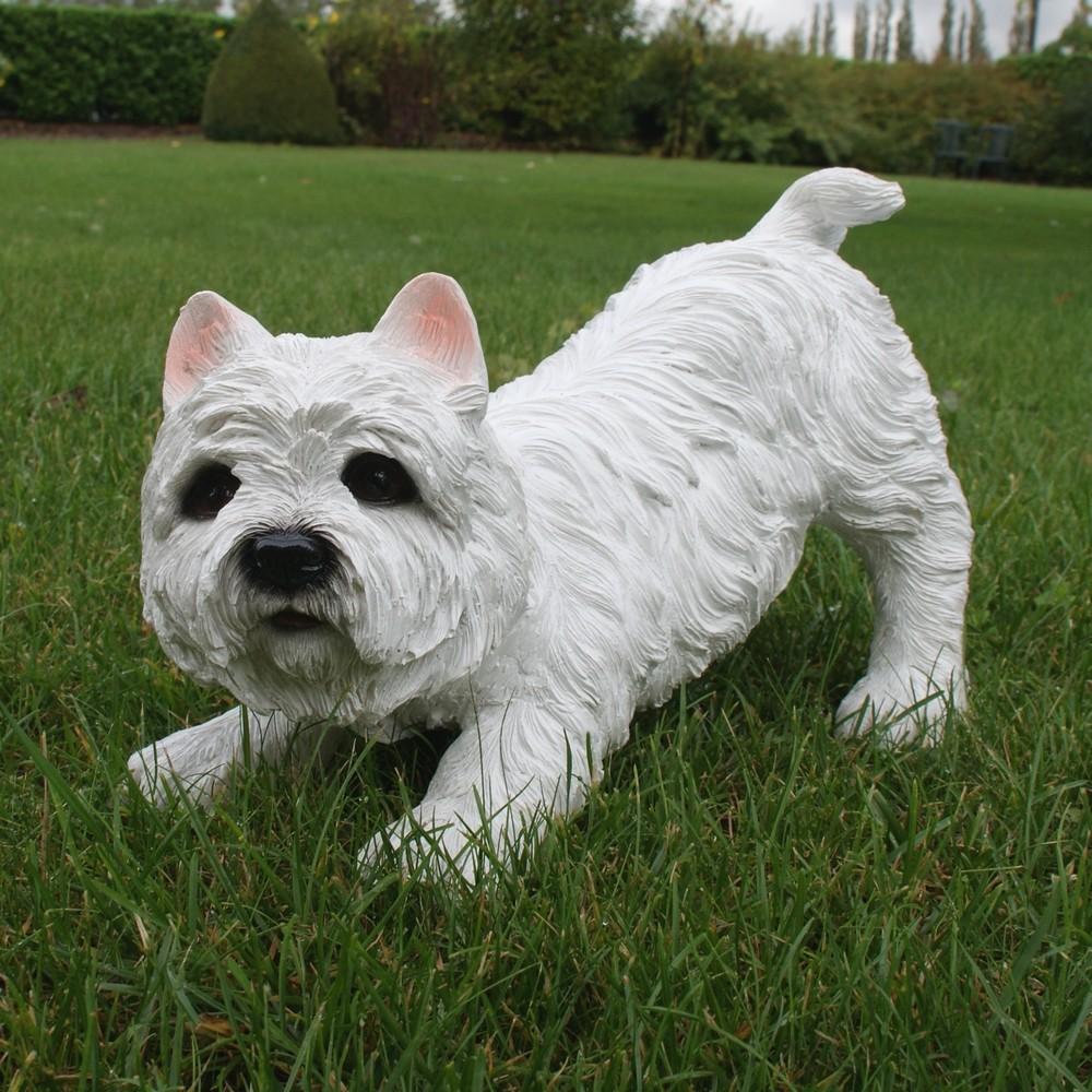 West highland terrier tuinbeeld