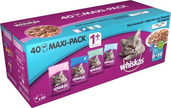 Whiskas Maaltijdzakjes 1 Classic Selection Vis 40 x 100g