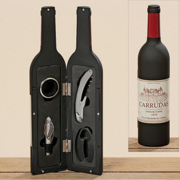 Wijn cadeauset van accessoires