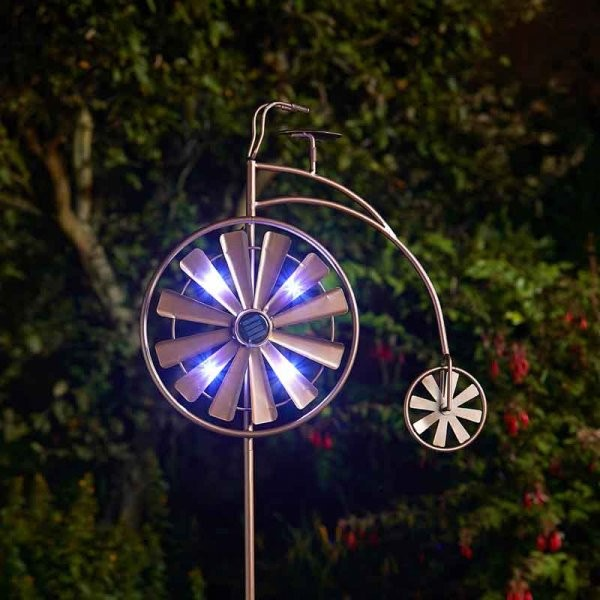 Windspinner Fiets solar tuinprikker 150 cm