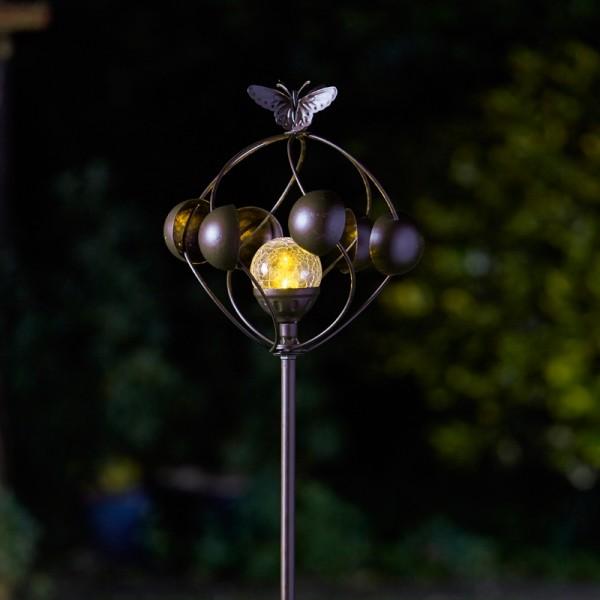 Windspinner vlinder met lichtbolsolar